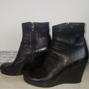 Prada sport leather wedge ankle boots size 36.5